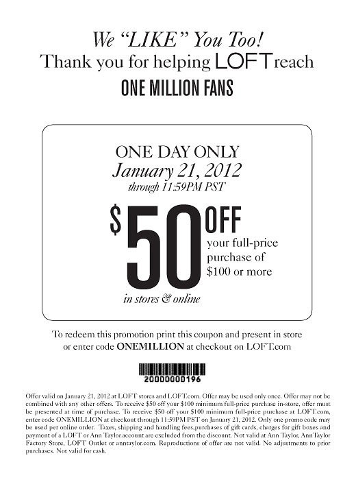 Ann Taylor Coupons and Promotion Codes November at unicornioretrasado.tk ANN Cash Back · Great Brands · Our Commitment · Top Offers.