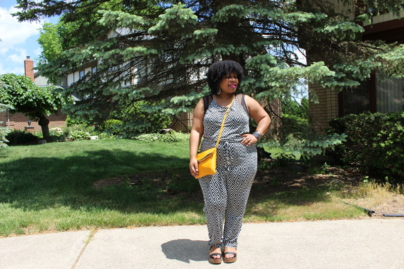 Fashion to Figure Black and White Jumpsuit Plus Size