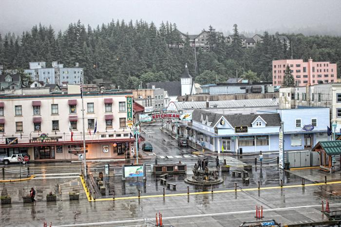 Ketchikan, Alaska skyline.